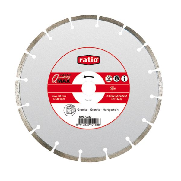 DISC DIAMANT LASER GRANIT Q-MAX 230MM. RATIO